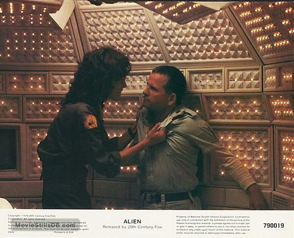 Alien - Lobby card with Sigourney Weaver & Ian Holm