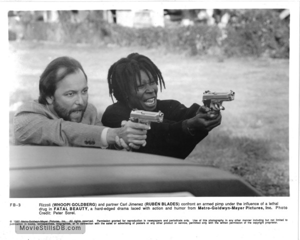 Fatal Beauty - Publicity still of Rubén Blades & Whoopi Goldberg
