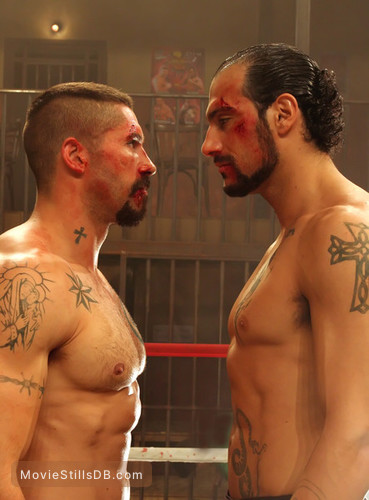 Undisputed 3 - Publicity still of Scott Adkins & Marko Zaror