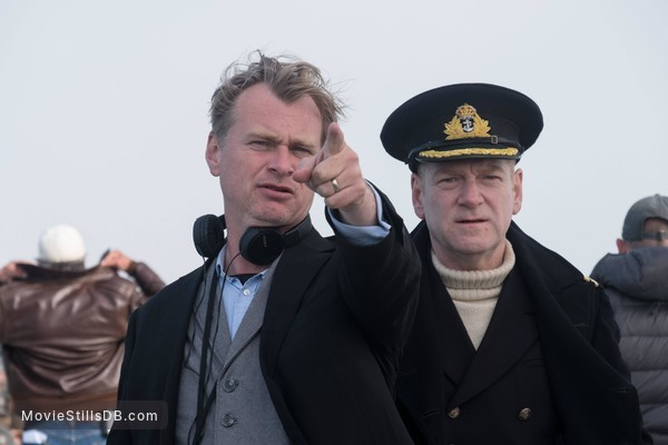 Dunkirk - Behind the scenes photo of Kenneth Branagh & Christopher Nolan