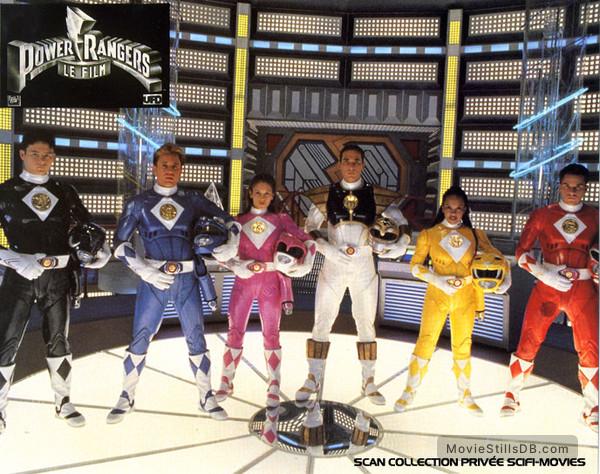 Mighty Morphin Power Rangers: The Movie - Lobby card with Amy Jo Johnson, Jason David Frank, Johnny Yong Bosch, David Yost, Steve Cardenas & Karan Ashley