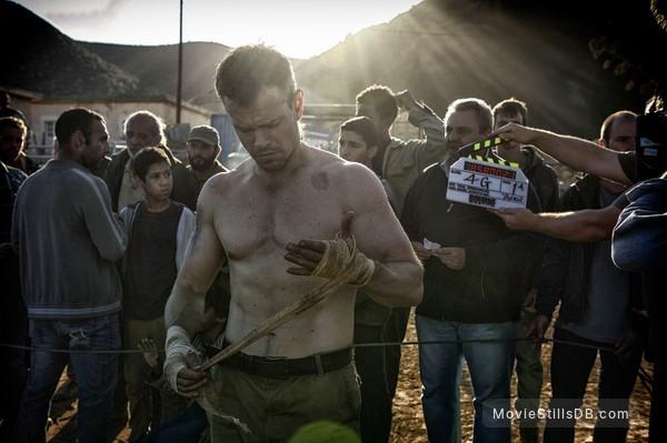Jason Bourne - Behind the scenes photo of Matt Damon
