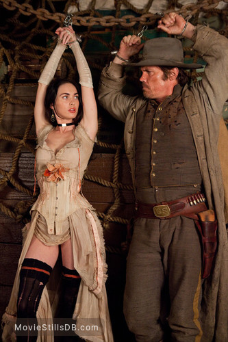 Jonah Hex - Publicity still of Megan Fox & Josh Brolin