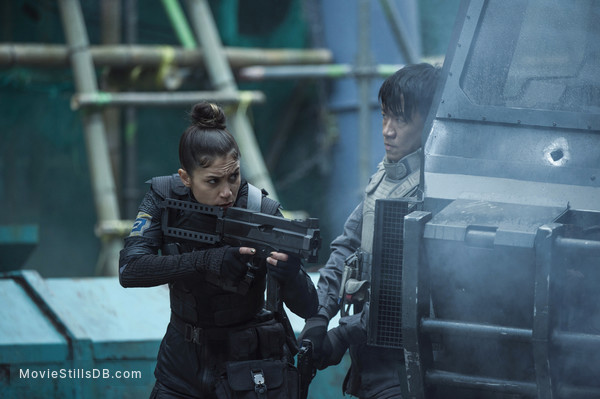 Ghost in the Shell - Publicity still of Chin Han & Danusia Samal