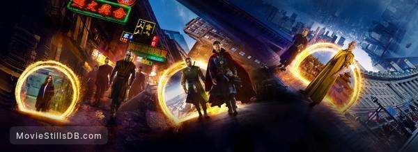Doctor Strange - Promotional art with Benedict Cumberbatch, Chiwetel Ejiofor, Tilda Swinton, Rachel McAdams, Mads Mikkelsen & Benedict Wong