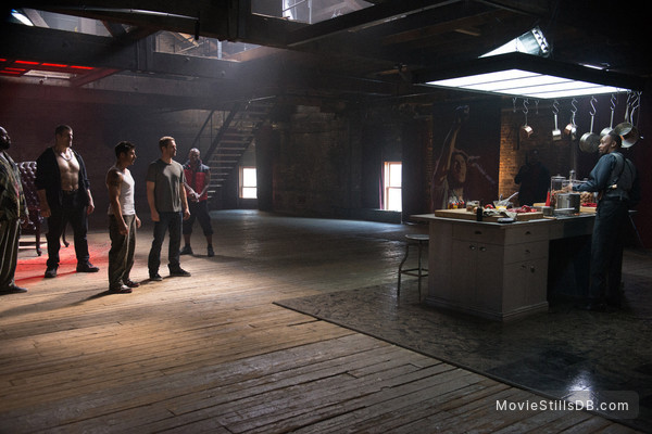 Brick Mansions - Publicity still of Paul Walker, David Belle, RZA, Robert Maillet & Gouchy Boy