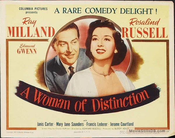 A Woman of Distinction - Lobby card