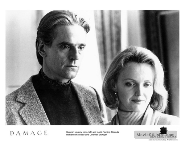 Damage - Lobby card with Jeremy Irons & Miranda Richardson