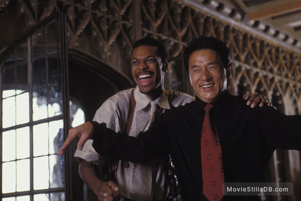 Rush Hour - Behind the scenes photo of Jackie Chan & Chris Tucker