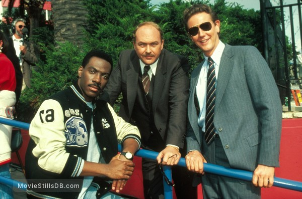 Beverly Hills Cop 2 - Behind the scenes photo of Eddie Murphy, Judge Reinhold & John Ashton