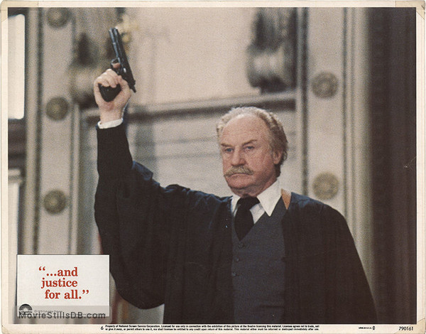 ...And Justice for All - Lobby card with Jack Warden
