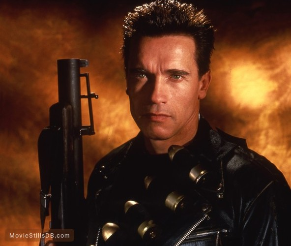 Terminator 2 judgment day promo shot of arnold schwarzenegger thecheapjerseys Gallery