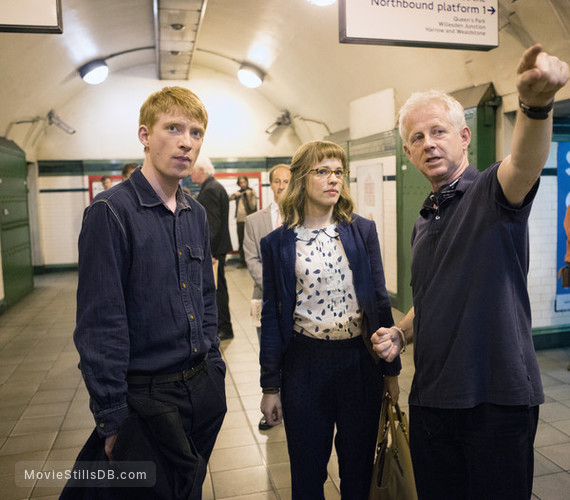 About Time - Behind the scenes photo of Domhnall Gleeson & Rachel McAdams