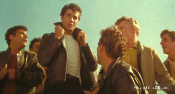 Grease - Publicity still of John Travolta & Michael Tucci
