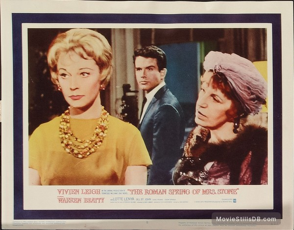 The Roman Spring of Mrs. Stone - Lobby card with Vivien Leigh & Warren Beatty