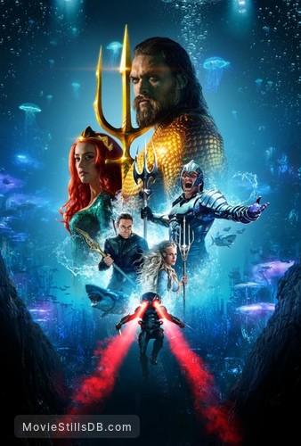 Aquaman - Promotional art with Jason Momoa, Amber Heard, Willem Dafoe, Patrick Wilson, Nicole Kidman & Yahya Abdul-Mateen II