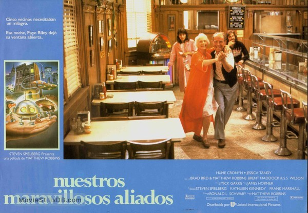 *batteries not included - Lobby card with Hume Cronyn, Jessica Tandy, Elizabeth Peña & Dennis Boutsikaris