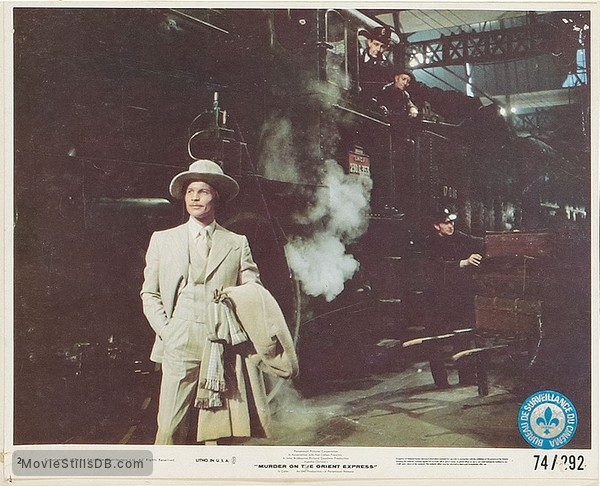 Murder on the Orient Express - Lobby card with Michael York