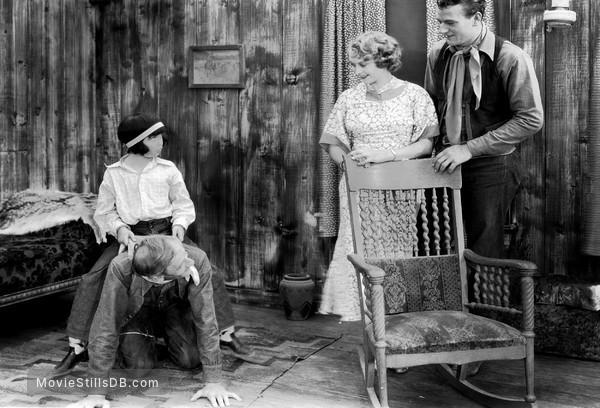 'Neath the Arizona Skies - Publicity still of John Wayne, Sheila Terry & Shirley Jean Rickert