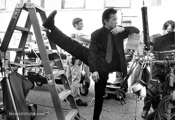 Rush Hour - Behind the scenes photo of Jackie Chan