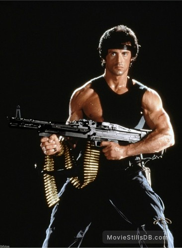 Rambo: First Blood Part II - Promo shot of Sylvester Stallone