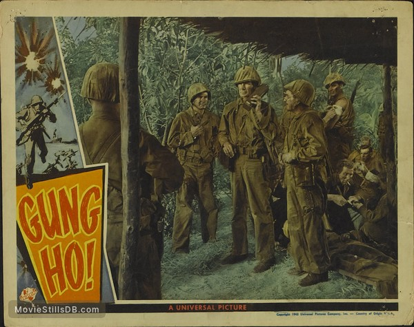 'Gung Ho!': The Story of Carlson's Makin Island Raiders - Lobby card with Randolph Scott