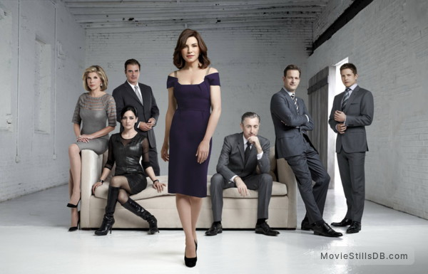 The Good Wife - Promo shot of Christine Baranski, Chris Noth, Archie Panjabi, Julianna Margulies, Alan Cumming, Josh Charles & Matt Czuchry