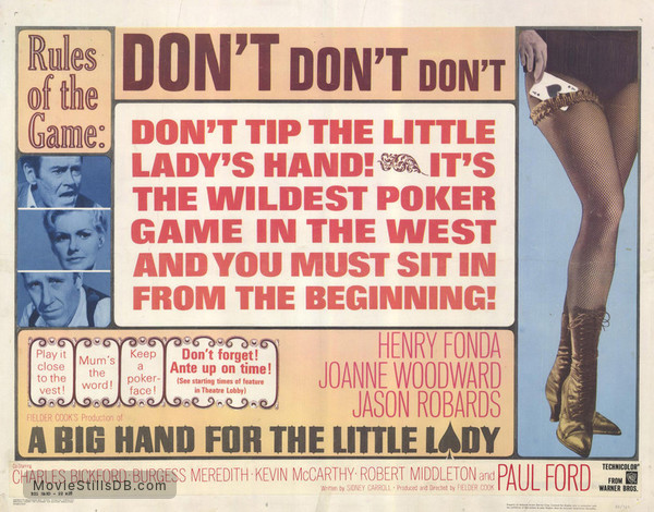 A Big Hand for the Little Lady - Lobby card with Henry Fonda, Joanne Woodward & Jason Robards