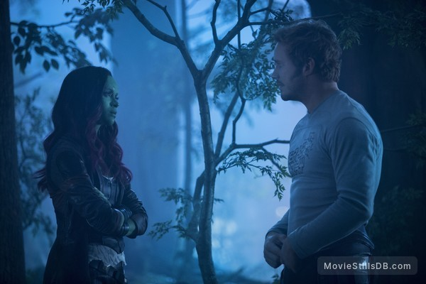 Guardians of the Galaxy Vol. 2 - Publicity still of Chris Pratt & Zoe Saldana