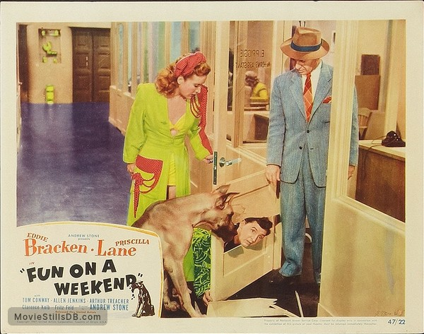 'Fun on a Week-End' - Lobby card