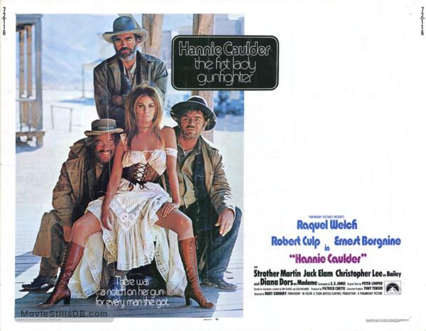 Hannie Caulder - Lobby card with Raquel Welch, Strother Martin, Ernest Borgnine & Jack Elam