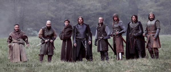 Black Death - Publicity still of Andy Nyman, Johnny Harris, Eddie Redmayne, Sean Bean, Jamie Ballard, Tygo Gernandt, Emun Elliott & John Lynch