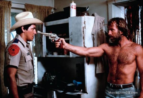 Lone Wolf McQuade - Publicity still of Robert Beltran & Chuck Norris