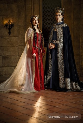 Knightfall - Promo shot of Olivia Ross & Ed Stoppard
