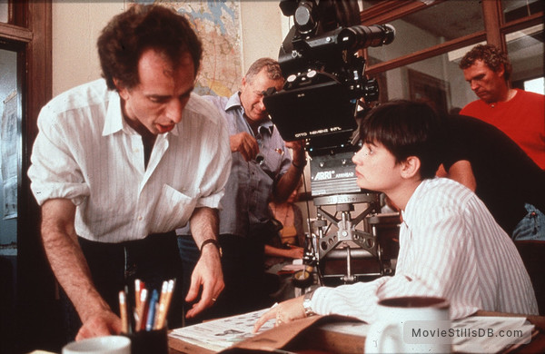 Ghost - Behind the scenes photo of Demi Moore & Jerry Zucker