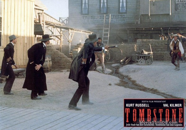 Tombstone - Lobby card with Bill Paxton, Kurt Russell, Sam Elliott, Stephen Lang & Robert John Burke