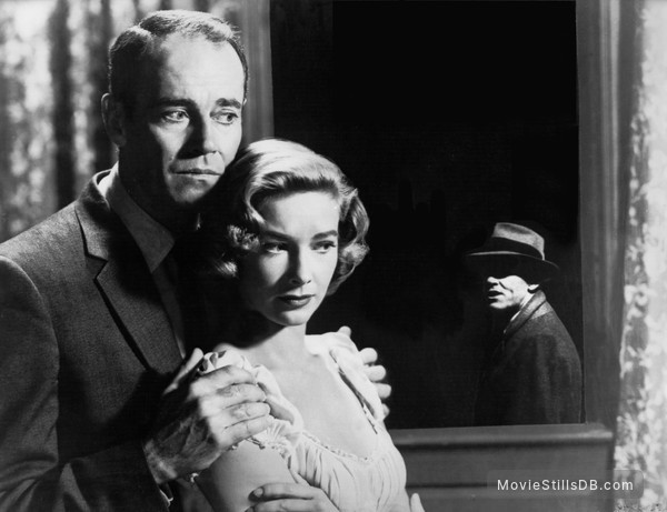 The Wrong Man - Publicity still of Henry Fonda & Vera Miles
