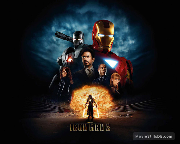 Iron Man 2 - Wallpaper with Robert Downey Jr., Don Cheadle, Mickey Rourke, Scarlett Johansson & Gwyneth Paltrow