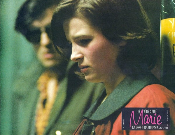 'Je vous salue, Marie' - Lobby card with Juliette Binoche & Thierry Rode