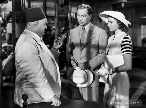 Casablanca - Publicity still of Ingrid Bergman, Paul Henreid & Sydney Greenstreet