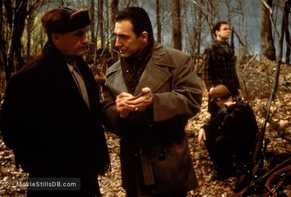 Hoffa - Publicity still of Armand Assante, Jack Nicholson & John C. Reilly