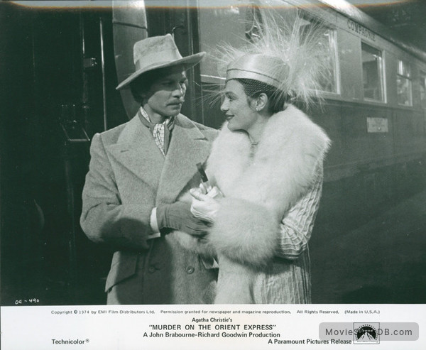 Murder on the Orient Express - Publicity still of Michael York & Jacqueline Bisset