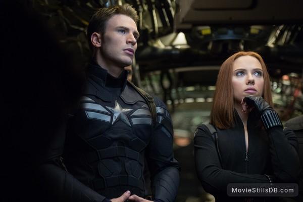 Captain America: The Winter Soldier - Publicity still of Scarlett Johansson & Chris Evans