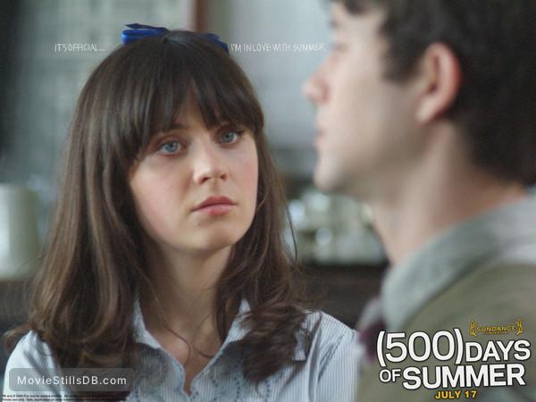 (500) Days of Summer - Wallpaper with Zooey Deschanel & Joseph Gordon-Levitt