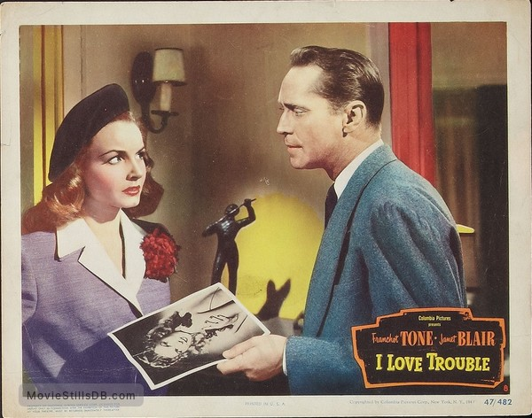 Image result for i love trouble 1948
