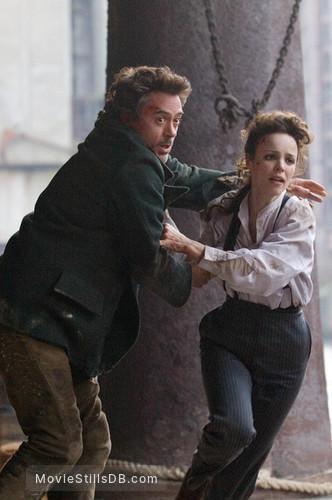 Sherlock Holmes - Publicity still of Rachel McAdams & Robert Downey Jr.