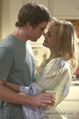 Dexter - Promo shot of Michael C. Hall & Julie Benz