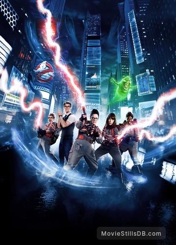 Ghostbusters - Promotional art with Melissa McCarthy, Kristen Wiig, Chris Hemsworth, Kate McKinnon & Leslie Jones