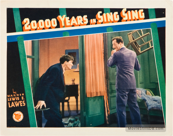 20,000 Years in Sing Sing - Lobby card with Spencer Tracy & Louis Calhern