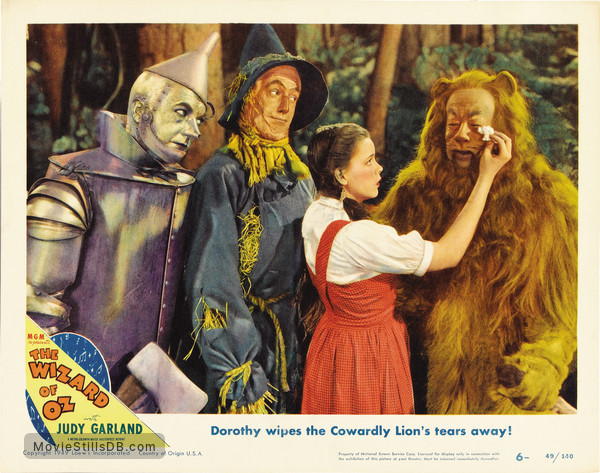 The Wizard of Oz - Lobby card with Judy Garland, Ray Bolger, Bert Lahr & Jack Haley